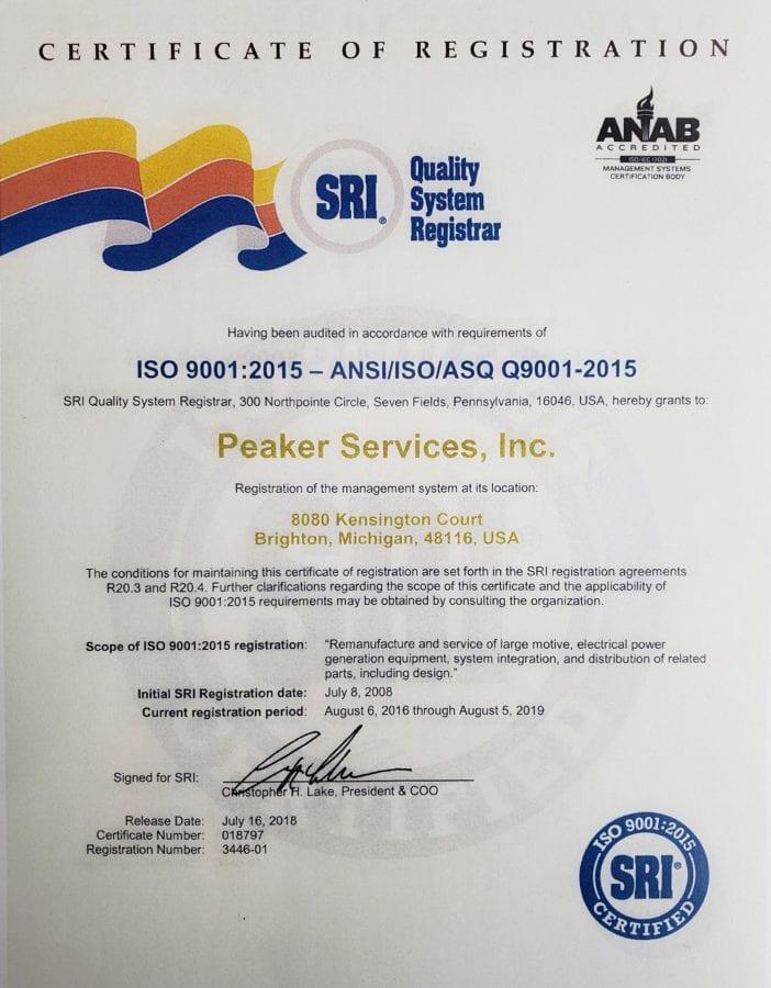 SRI Certification