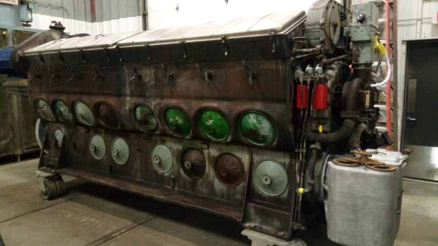 Iowa EMD engine remanufacturing before