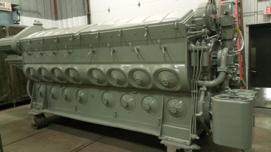 Massachusetts EMD engine remanufacturing after